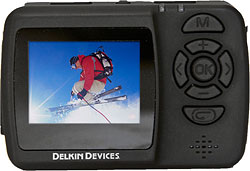 Rear view of the Delkin WingmanHD camera. Photo provided by Delkin Devices Inc. Click for a bigger picture!