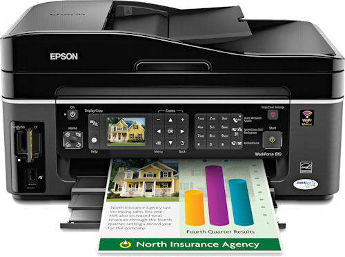Epson's Workforce 610 all-in-one. Photo provided by Epson America Inc. Click for a bigger picture!