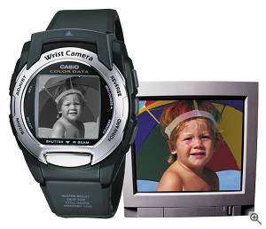 Casio's WQV3-1 Wrist Camera captures color images. Courtesy of Casio Inc. - click for a bigger picture!
