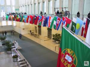The World Trade Center lobby. Dedicated to the memory of those who perished in terrorist attacks on the United States, Tuesday September 11th 2001.