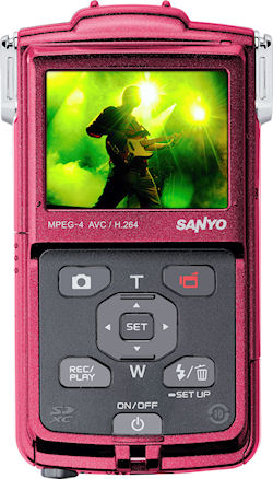 The European-market Xacti VPC-PD1, rear view. Photo provided by Sanyo Sales & Marketing Europe GmbH. Click for a bigger picture!