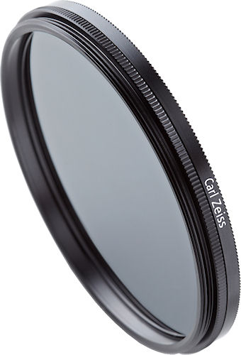 Carl Zeiss-branded polarizing filters are available in 58mm, 67mm, 72mm and 82mm sizes, and include the company's T* anti-reflective multi coating. Photo provided by Carl Zeiss AG. Click for a bigger picture!