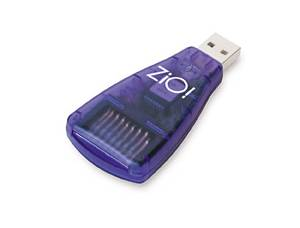 SCM Microsystems' Zio MultiMediaCard / Secure Digital card reader. Courtesy of SCM Microsystems Inc.