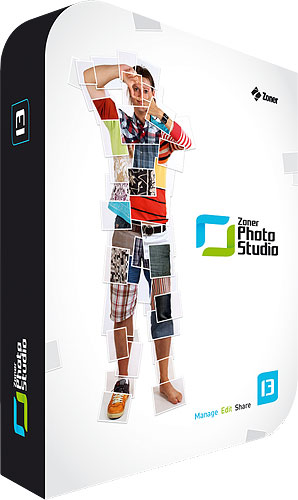 Zoner Photo Studio 13 product packaging. Rendering provided by ZONER Software a.s. Click for a bigger picture!