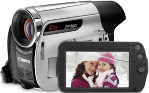 Canon's ZR960 MiniDV camcorder. Photo provided by Canon U.S.A. Inc. Click for a bigger picture!