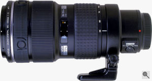 Olympus' Zuiko 35-100mm f2.0 lens. Courtesy of Olympus, with modifications by Michael R. Tomkins. Click for a bigger picture!