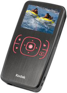 Kodak's ZX1 digital video camera. Photo provided by Eastman Kodak Co. Click for a bigger picture!
