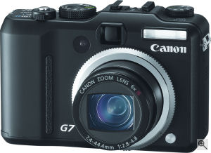 Canon's Powershot G7 digital camera. Courtesy of Canon, with modifications by Michael. R. Tomkins. Click for a bigger picture!