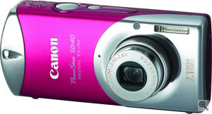 Canon's Powershot SD40 digital camera. Courtesy of Canon, with modifications by Michael. R. Tomkins. Click for a bigger picture!
