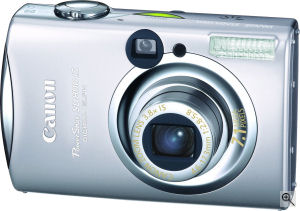Canon's Powershot SD800IS digital camera. Courtesy of Canon, with modifications by Michael. R. Tomkins. Click for a bigger picture!