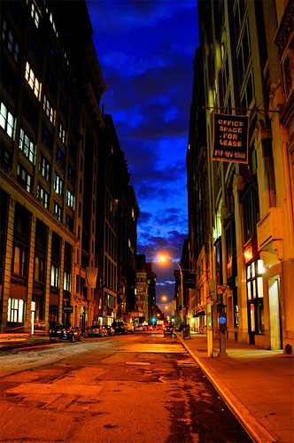 This shot was taken as Peter walked home from work in NYC. Normally he wouldn't have carried a camera, but with the Capture, he had both camera and makeshift tripod at hand (someone's parked car). Note: this Capture mount is forthcoming. Click for a bigger picture!