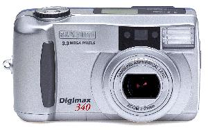 Digimax 340. Courtesy of Samsung. Click for larger image.