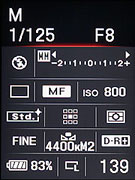 how to turn on sony a7iii histogram