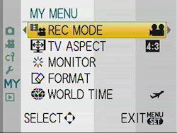 Panasonic GF1 Review - Modes & Menus