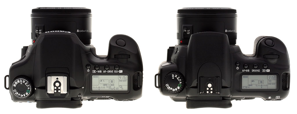 how to turn on canon eos 40d