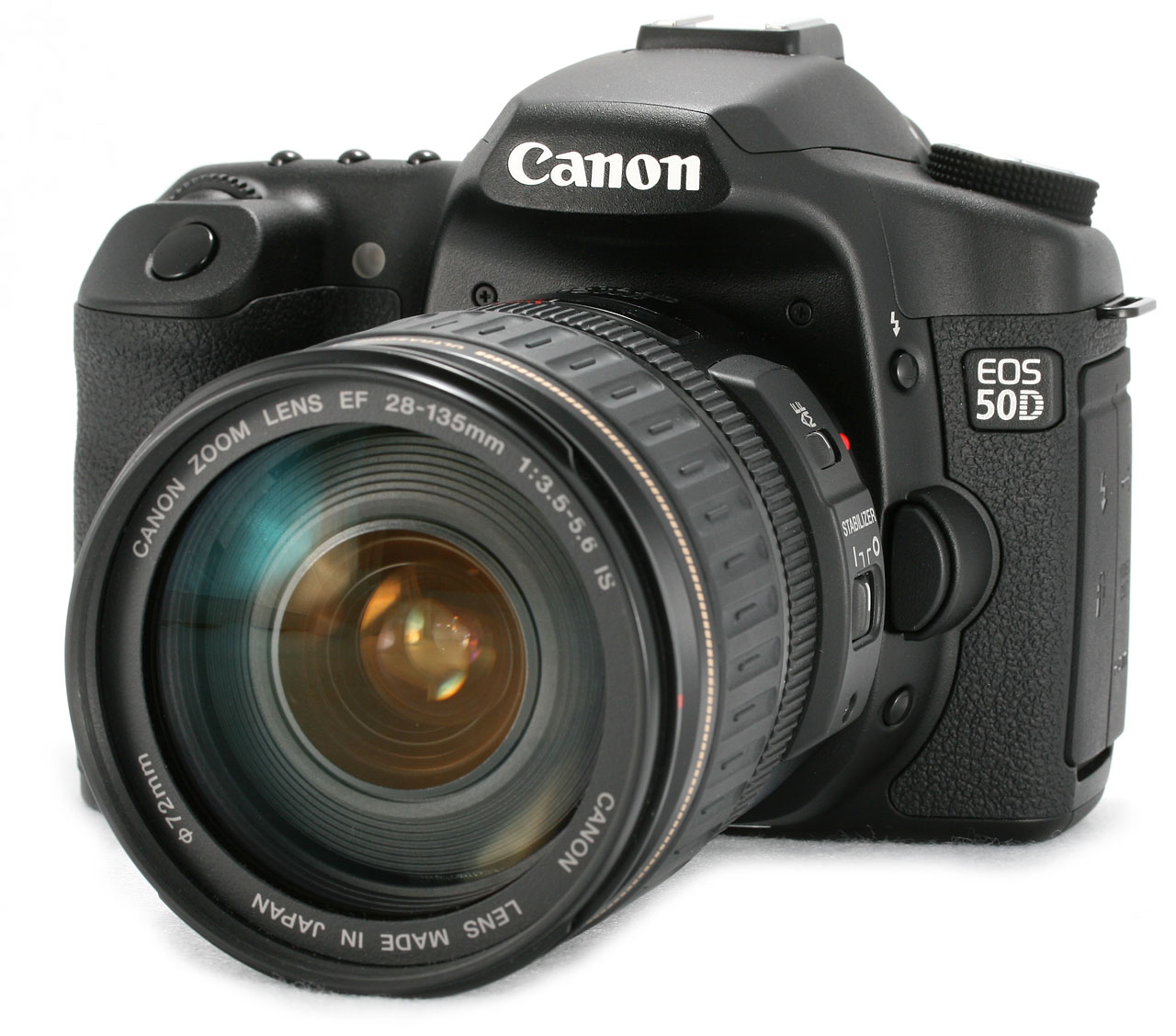 Canon is including the 28-135mm IS lens with the 50D. It's an older design,  so it doesn't focus quite as fast as the newer 17-85mm EF-S lens, and its  image ...