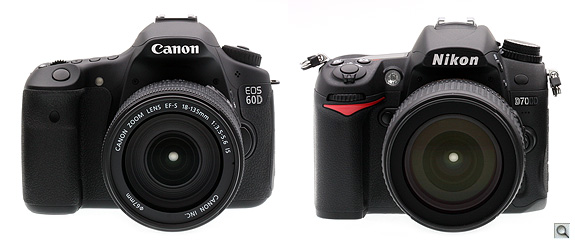 the canon 60d is slightly larger than the nikon d7000 mostly in width but the canon xxd line has shrunk somewhat to take on the d90 and d7000