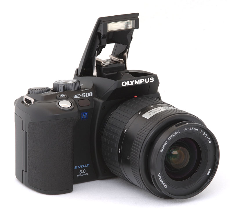 i really like the olympus e 500 its comfortable to hold handsome and seems to work quite well it has almost all the features id look for in a digital