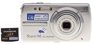 Olympus Stylus 760 Front View