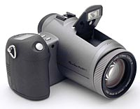 Canon's PowerShot Pro90IS digital camera. Copyright (c) 2001, The Imaging Resource, all rights reserved.