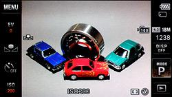 Sony TX200V menu system