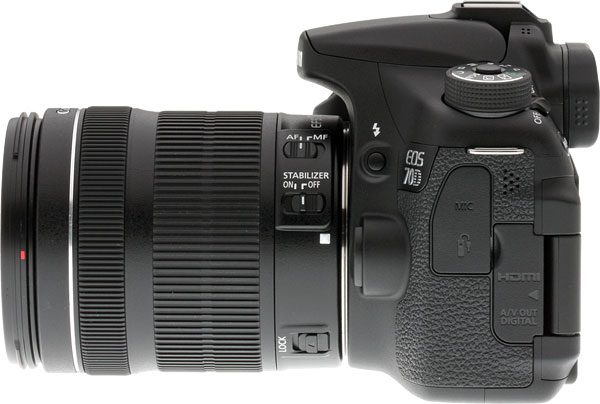 Canon 70D review -- Left view