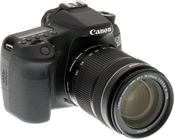 Canon 70D review -- Another three quarter view