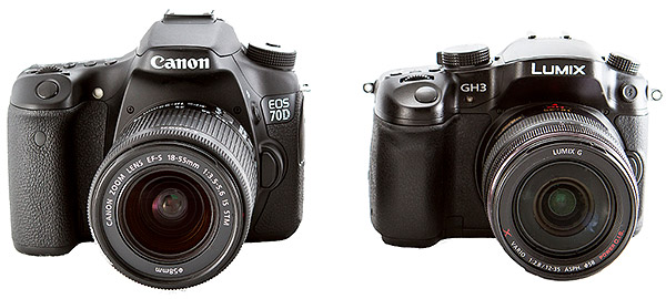 Canon 70D review -- Comparison with Panasonic GH3