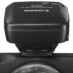 Canon EOS M review -- GP-E2 hotshoe-mounted GPS receiver