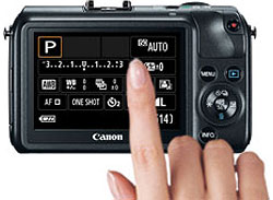 Canon EOS M review -- Touch panel
