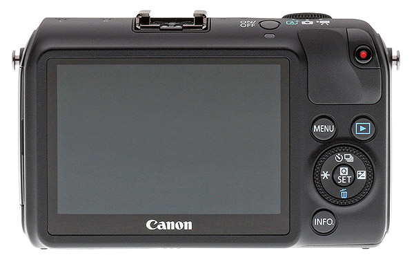 Canon EOS M review -- Rear view