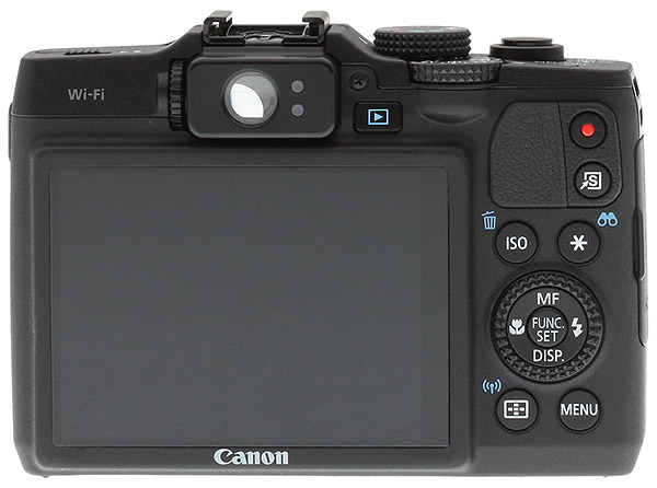 Canon G16 Review -- back view