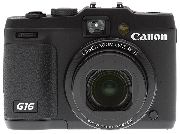 Canon G16 Review -- front view