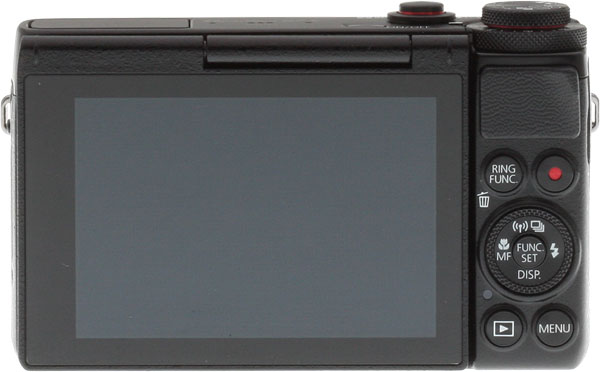 Canon G7 X review -- Rear view