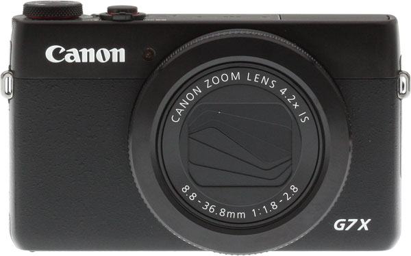 Canon G7 X review -- Front view