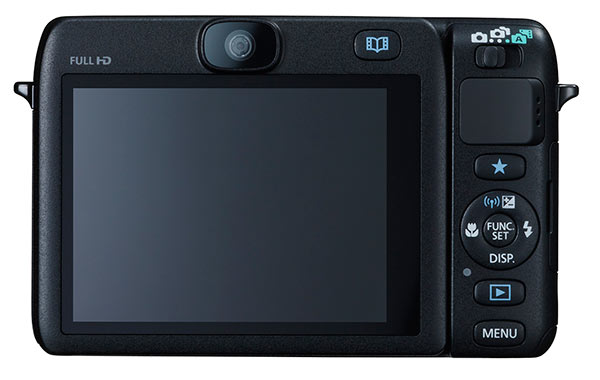 Canon N100 review - back view