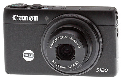 Canon S120 review -- Front quarter view
