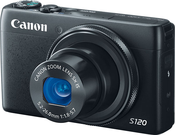 Canon S120 review -- Front view