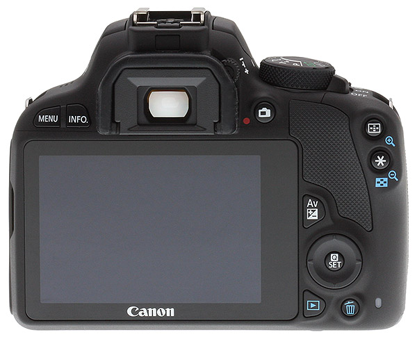 Canon SL1 review --  Rear view