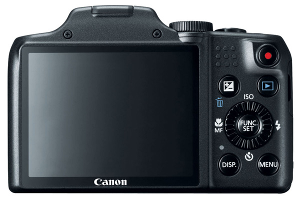 Canon SX170 Review -- Rear view in black