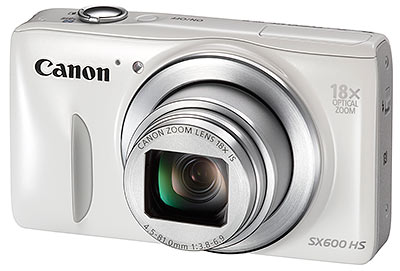 Canon SX600 HS review - front quarter view