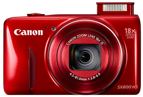 Canon SX600 HS review - front view