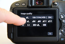 Canon T5i review -- Touch screen