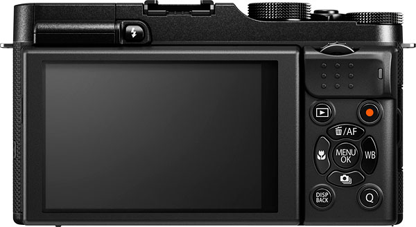 Fuji X-A1 review -- Rear view