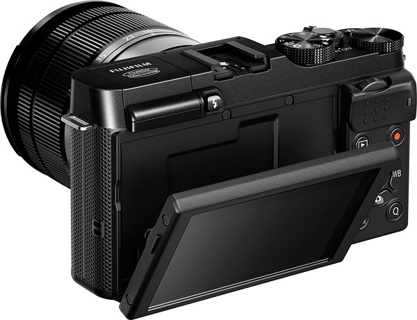 Fuji X-A1 review -- Tilting display