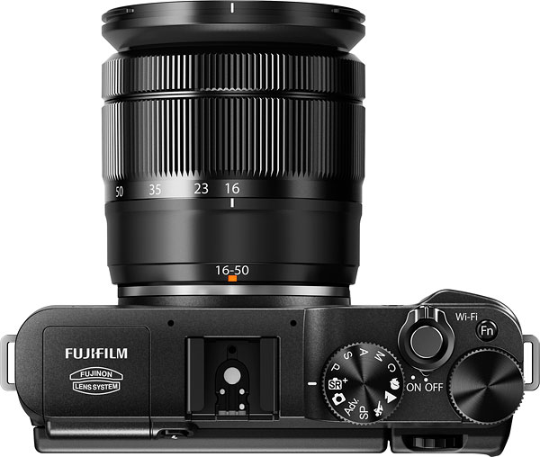 Fuji X-A1 review -- Top view