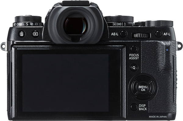 Fuji X-T1 Review -- Back view