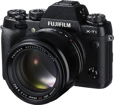 Fuji X-T1 Review -- Front quarter view