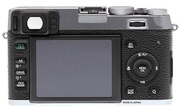 Fuji X100S Review - rear view