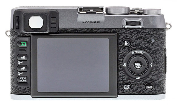 Fuji X100S Review - X100 rear view